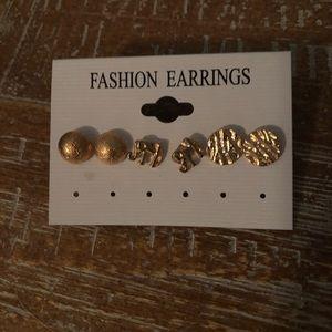 Gold elephant stud earrings